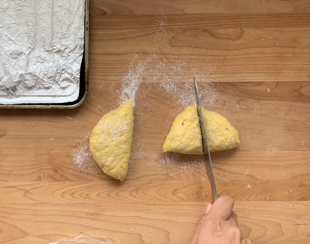 ハロウィンパーティー 切りっぱなしパン レシピ 01