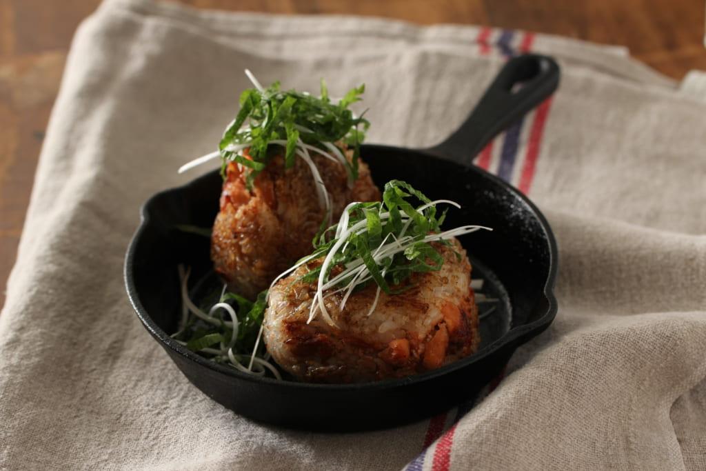 秋鮭と明太子の焼きおにぎり レシピ